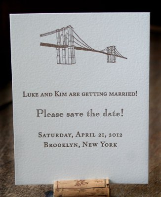 Brooklyn Bridge Save the Date